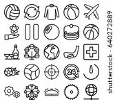 round icons set. set of 25... | Shutterstock .eps vector #640272889