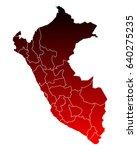 map of peru | Shutterstock .eps vector #640275235
