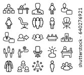 manager icons set. set of 25... | Shutterstock .eps vector #640276921