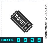 ticket icon flat. simple vector ... | Shutterstock .eps vector #640278514
