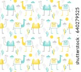 seamless vector pattern with... | Shutterstock .eps vector #640279525