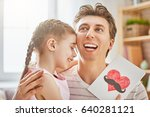 happy father's day  child... | Shutterstock . vector #640281121