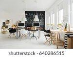 modern designer studio with... | Shutterstock . vector #640286515