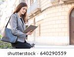 portrait of a beautiful mature... | Shutterstock . vector #640290559