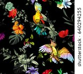 Seamless Pattern Of Parrots...