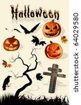 halloween set | Shutterstock . vector #64029580