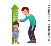 kindergarten teacher or father... | Shutterstock .eps vector #640298551