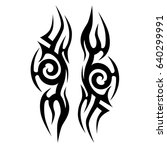 tattoo tribal vector design.... | Shutterstock .eps vector #640299991