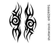 tribal tattoo art designs.... | Shutterstock .eps vector #640299991