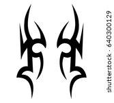 tattoo tribal vector design.... | Shutterstock .eps vector #640300129