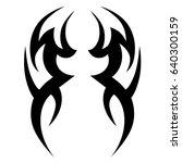 tribal tattoo art designs.... | Shutterstock .eps vector #640300159
