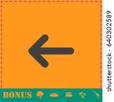 arrow icon flat. simple...