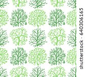 seamless pattern with cute... | Shutterstock . vector #640306165