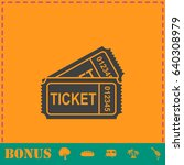ticket icon flat. simple... | Shutterstock . vector #640308979
