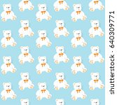 seamless pattern with bears on... | Shutterstock .eps vector #640309771