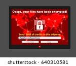 virus ransomware malware threat ... | Shutterstock .eps vector #640310581