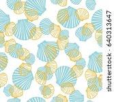 shell pattern  vector ... | Shutterstock .eps vector #640313647