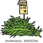 an image of green beans. | Shutterstock .eps vector #64031536