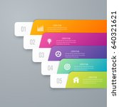 infographic template of square... | Shutterstock .eps vector #640321621