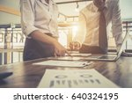 business investment consultant... | Shutterstock . vector #640324195