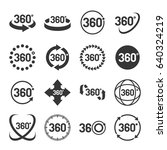 360 degree icons set. vector