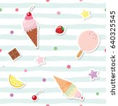 festive seamless pattern with... | Shutterstock .eps vector #640325545