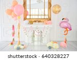 decorations for holiday party.... | Shutterstock . vector #640328227