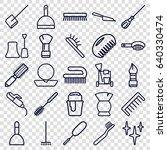 brush icons set. set of 25... | Shutterstock .eps vector #640330474