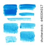 set of watercolor hand drawn... | Shutterstock .eps vector #640334317