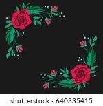vintage flower composition... | Shutterstock .eps vector #640335415
