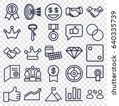 success icons set. set of 25... | Shutterstock .eps vector #640335739