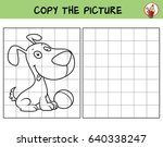 funny little dog with a ball.... | Shutterstock .eps vector #640338247