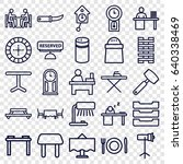 table icons set. set of 25... | Shutterstock .eps vector #640338469