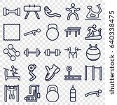 gym icons set. set of 25 gym... | Shutterstock .eps vector #640338475