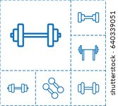 barbell icon. set of 6 barbell... | Shutterstock .eps vector #640339051