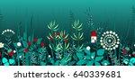 vector seamless border with...   Shutterstock .eps vector #640339681