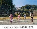 young japanese girls wearing... | Shutterstock . vector #640341229