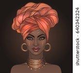 african american pretty girl.... | Shutterstock .eps vector #640342324