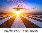runway  airstrip in the airport ... | Shutterstock . vector #640343905