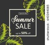 summer sale poster. special... | Shutterstock .eps vector #640344085