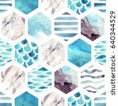 Abstract Textured Hexagon...