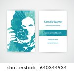 creative business card for lady ... | Shutterstock .eps vector #640344934