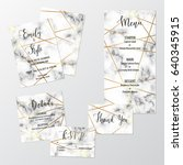 set of modern wedding template... | Shutterstock .eps vector #640345915