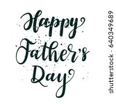 happy fathers day greeting card.... | Shutterstock .eps vector #640349689