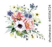 flower bouquet | Shutterstock . vector #640356724