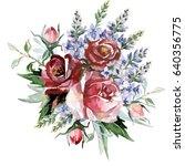 flower bouquet | Shutterstock . vector #640356775