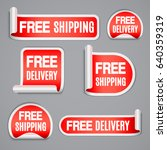 free shipping and free delivery ...   Shutterstock . vector #640359319