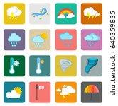 weather widget and icons | Shutterstock .eps vector #640359835