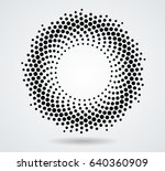 halftone dots in circle form.... | Shutterstock .eps vector #640360909