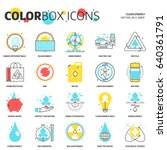color box icons  clean energy... | Shutterstock .eps vector #640361791